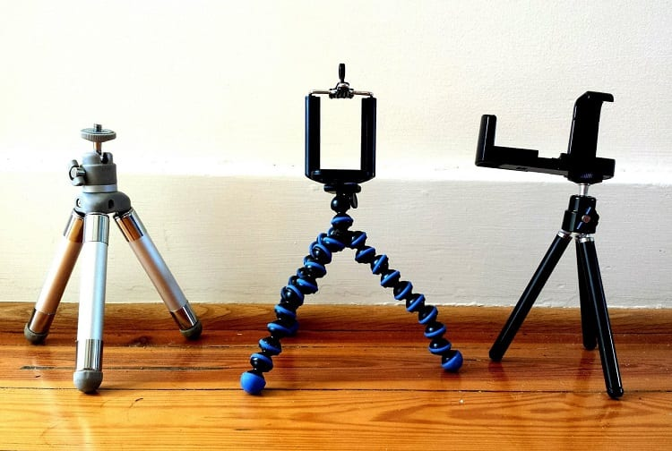 Three Different Phone Tripods
