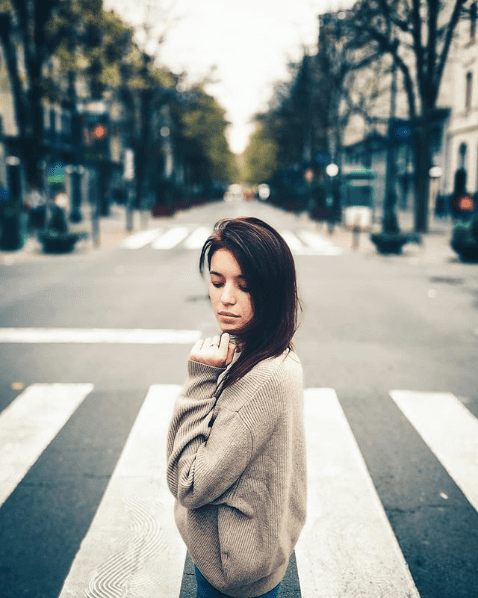 Girl At The Crossing