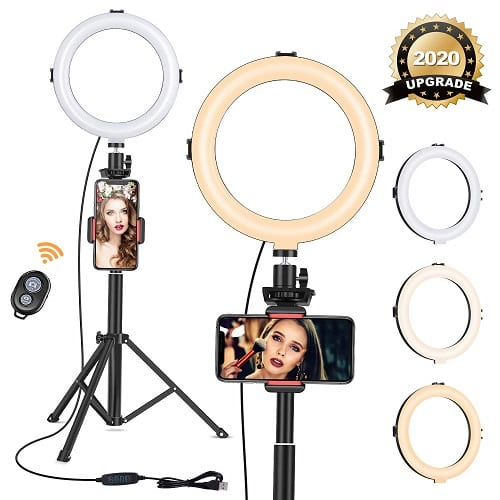 "VIEWOW 8"" Ring Light with Tripod Stand"