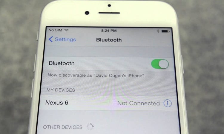 Using Bluetooth on Iphone